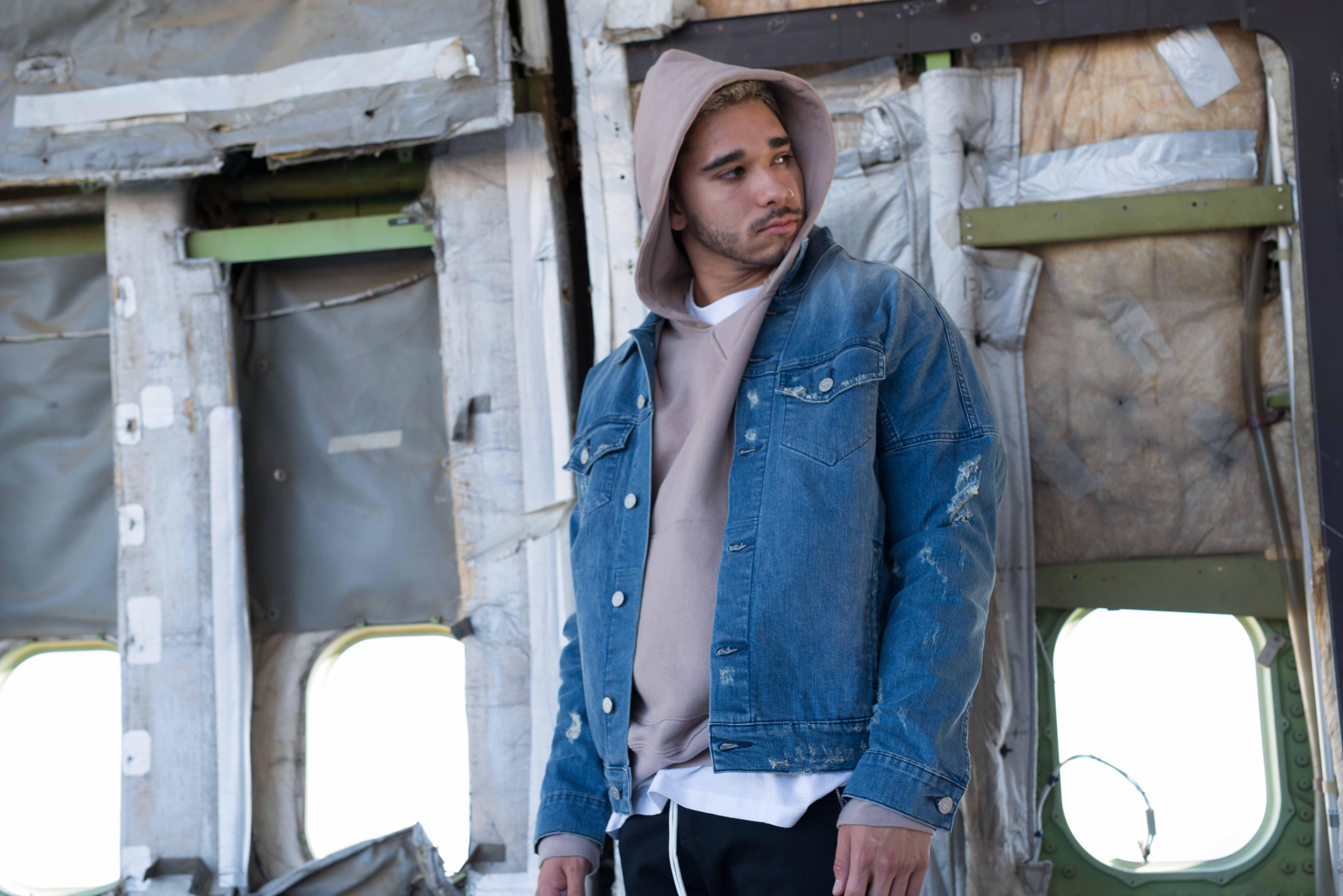 Paraval Luxury Sweatshirt Hoodie Denim Jacket Combo Menstyle Menswear [ 4912 x 7360 Pixel ]