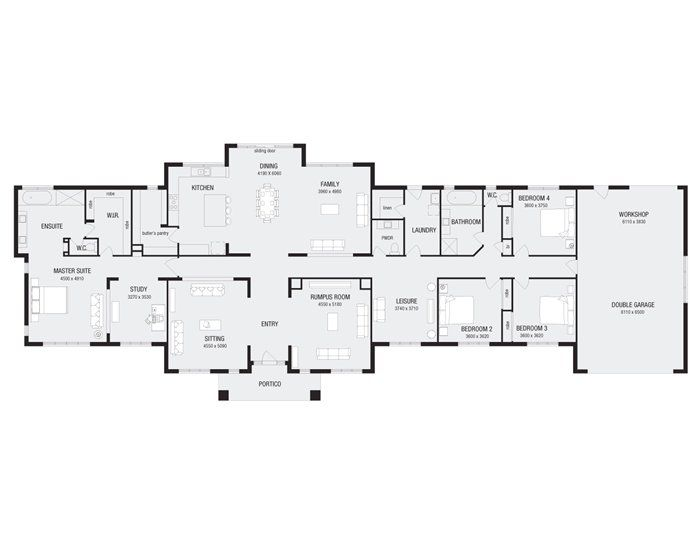 Floor Plan With A Few Changes To Come Metricon Designs
