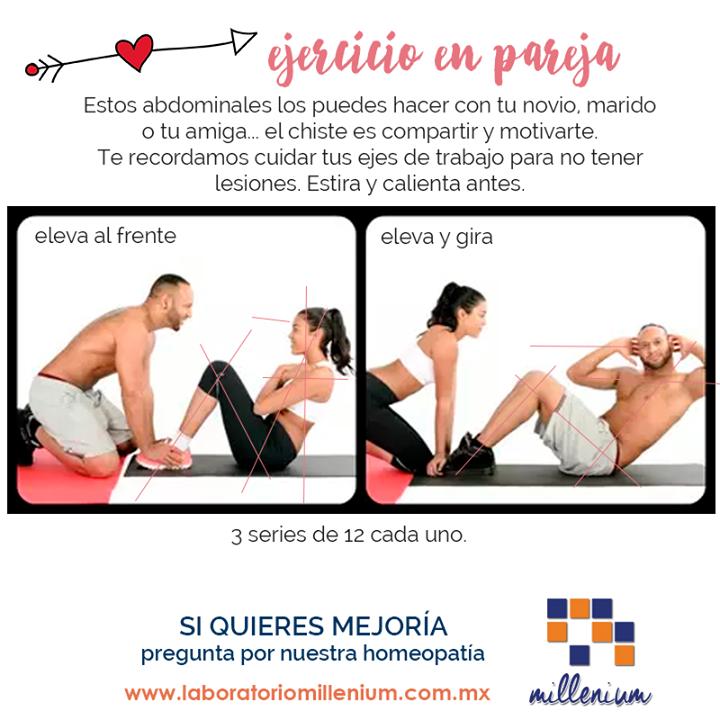 Ejercicios en pareja para bajar de peso