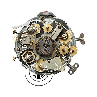 Reloj de pared con engranajes relojes de pared relojes - Mecanismos de reloj de pared ...