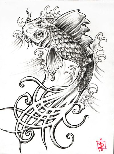 Pin By Mia Eichenberger On Coloring Pages Steampunk Coloring Koi Fish Drawing Black And White Drawing