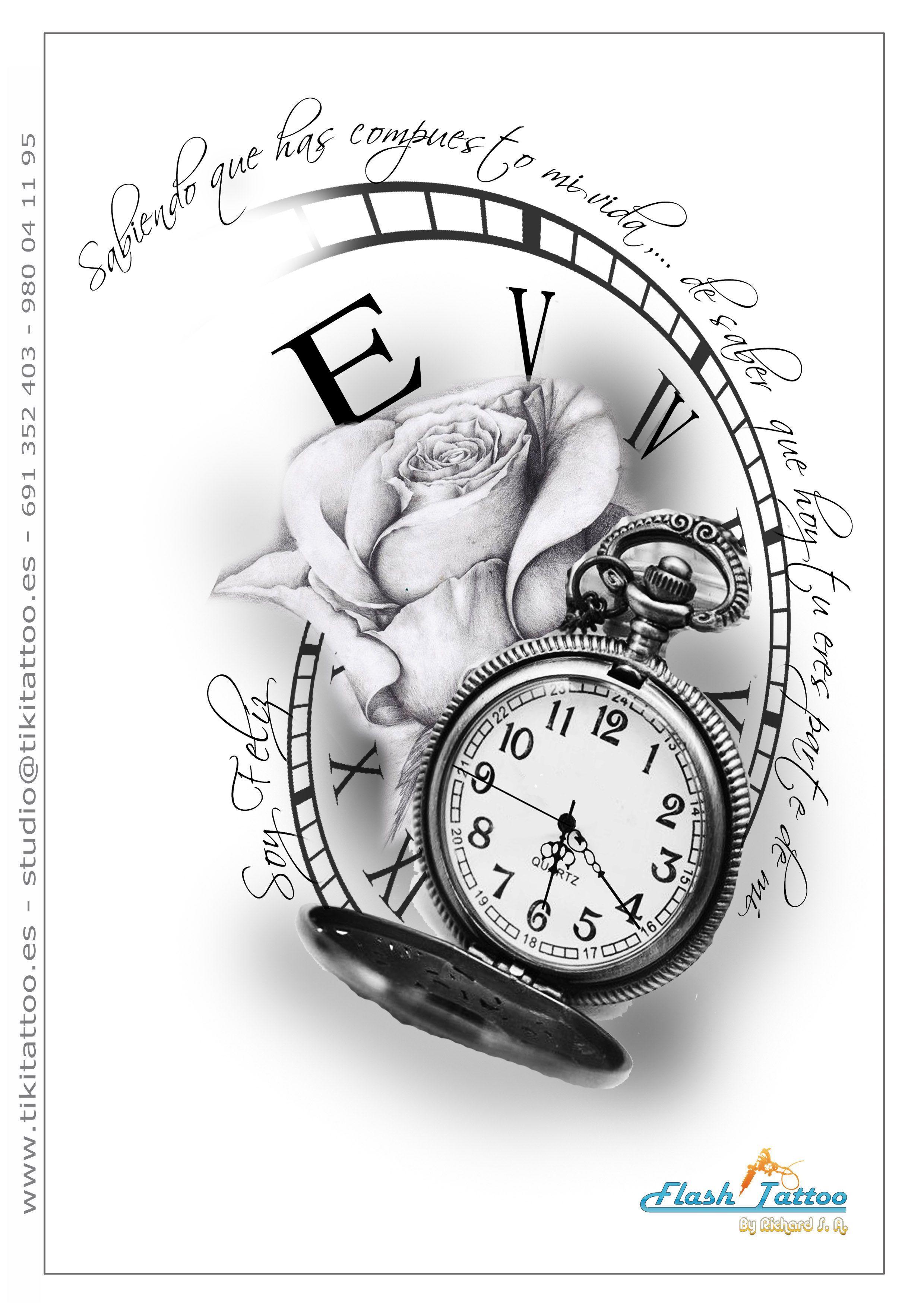 Bildergebnis für uhr vorlage tattoo | Tattoo uhr, Uhr ...
