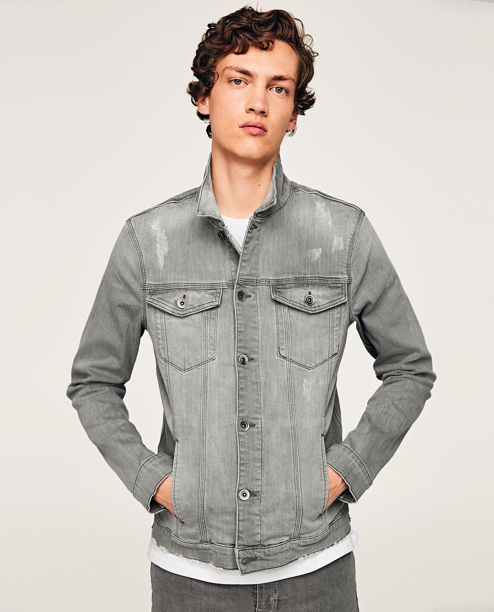 Image 1 Of Denim Jacket From Zara Denim Jacket Men Stylish Jackets Zara Man [ 2379 x 1920 Pixel ]