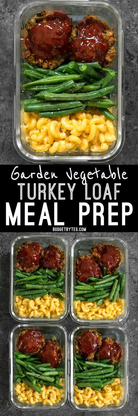 Garden Vegetable Turkey Loaf Meal Prep