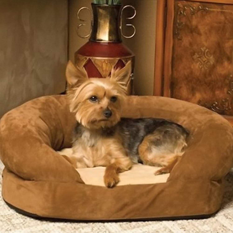 K H Cozy Soft, Warm, Washable Ortho Bolster Dog Bed