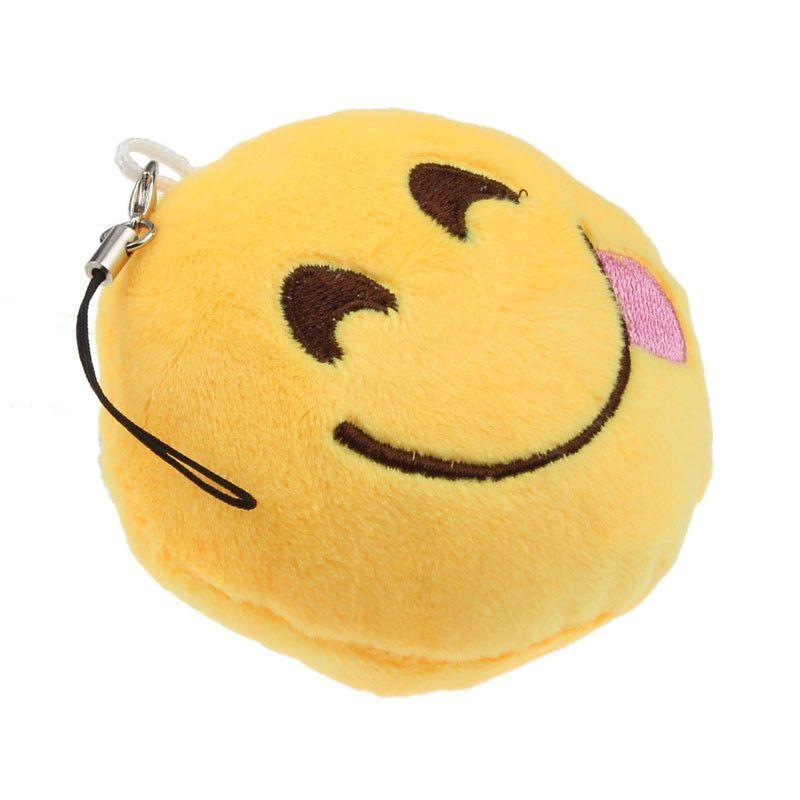 Tongue Out Smiley Emoji Keychain Pendant Bag Emoji Craft Cute Emoji