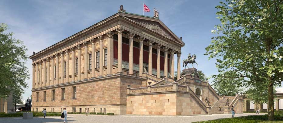 Alte Nationalgalerie In 2020 West Berlin Museum Island Historical View