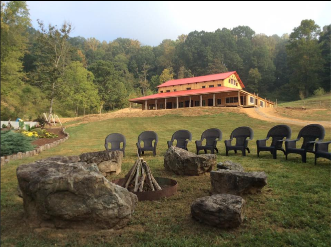 Beautiful Timber Hall located in the heart of Blue Ridge ...