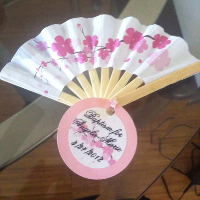 30 Cherry Blossom Silk Garden Fans Wedding Bridal Baby Shower Party Favors