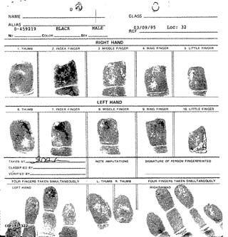 fingerprint card google search bear csi party pinterest fingerprint cards and forensics. Black Bedroom Furniture Sets. Home Design Ideas