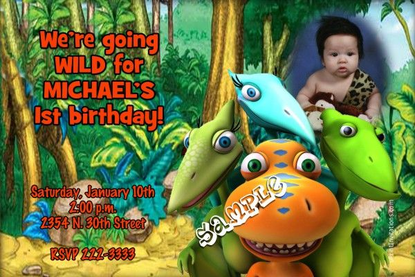 Dinosaur Train Birthday Invitations Get These RIGHT NOW Design Yourself Online Download And Print IMMEDIATELY Or Choose My Printing Services