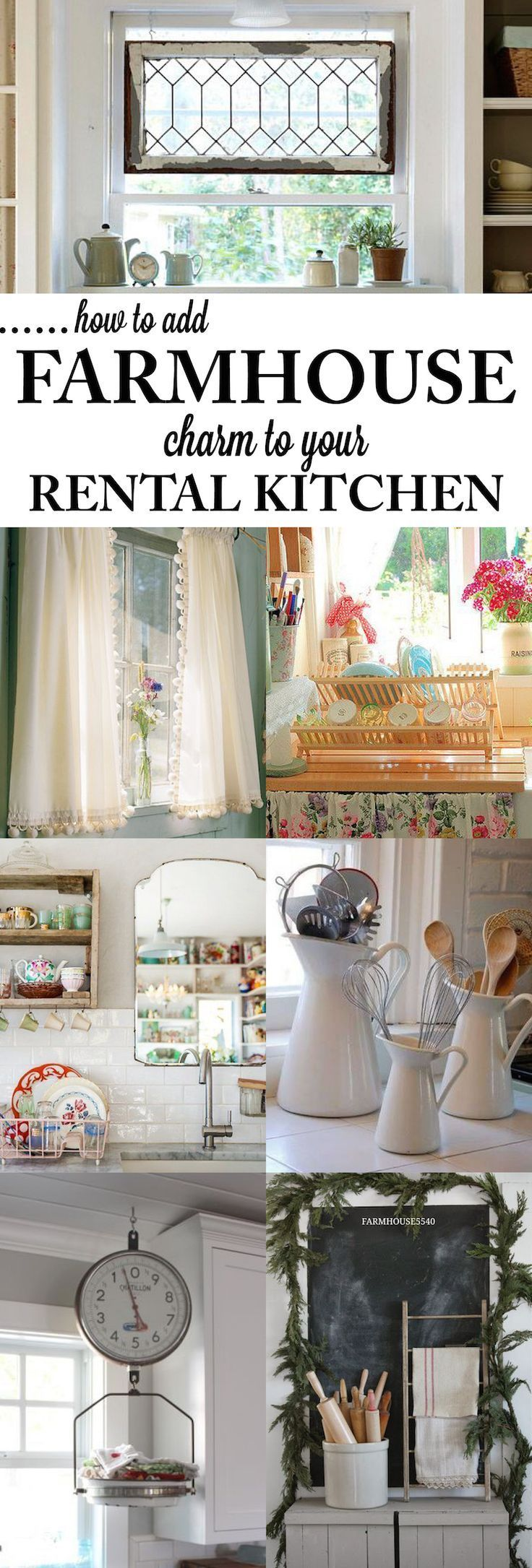 Rustic kitchen window decor  how to add farmhouse decor to your rental house fun easy and