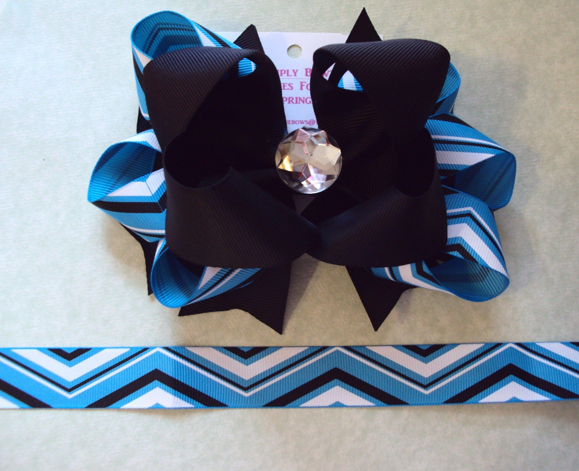 Chevron bow for more information look us up on facebook simply