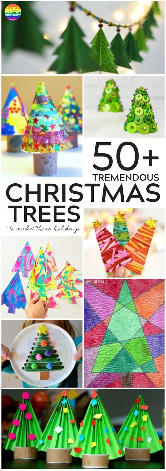 50 TREMENDOUS CHRISTMAS TREE CRAFTS ACTIVITIES