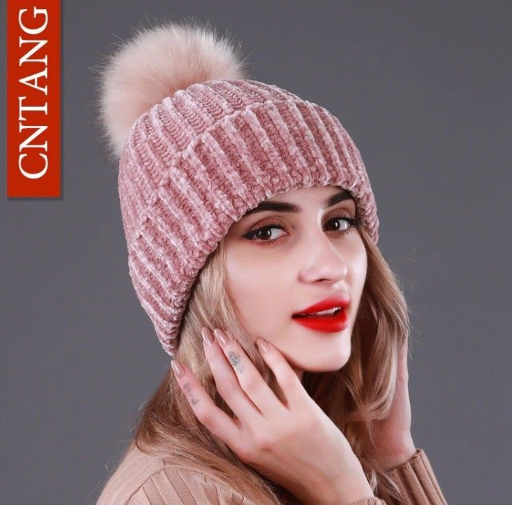 NEW Womens Winter Knit Slouchy Beanie Skull Cap Real Fur Pom Pom Hats Cap  For  fashion  clothing  shoes  accessories  womensaccessories  hats (ebay  link) a80c42bd33ea