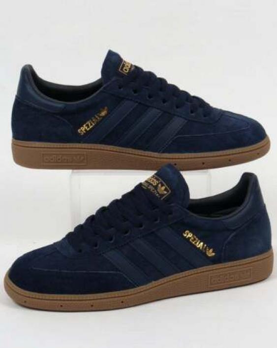Adidas Originals - Adidas Spezial Trainers in Navy & Gum Sole ...