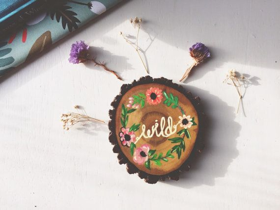 wild flower coaster by woodlandcoasters on Etsy woodlandcoasters.etsy.com