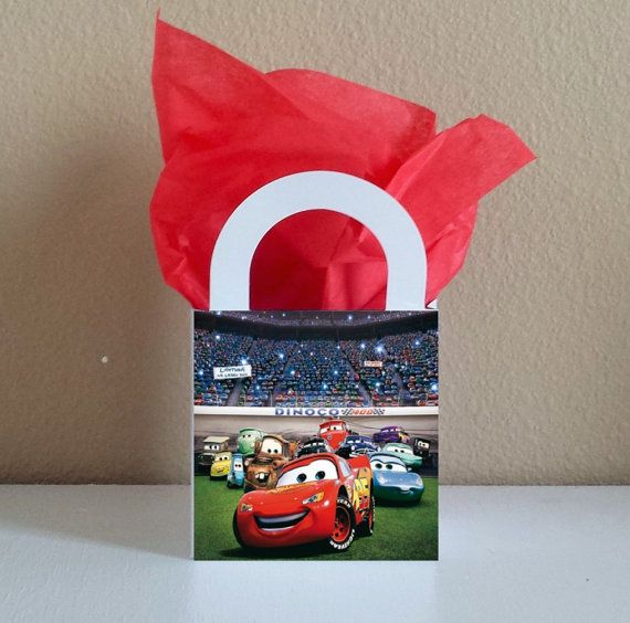 10 Cars Favor Boxes Centerpieces Baby Shower by CutePartySupplies