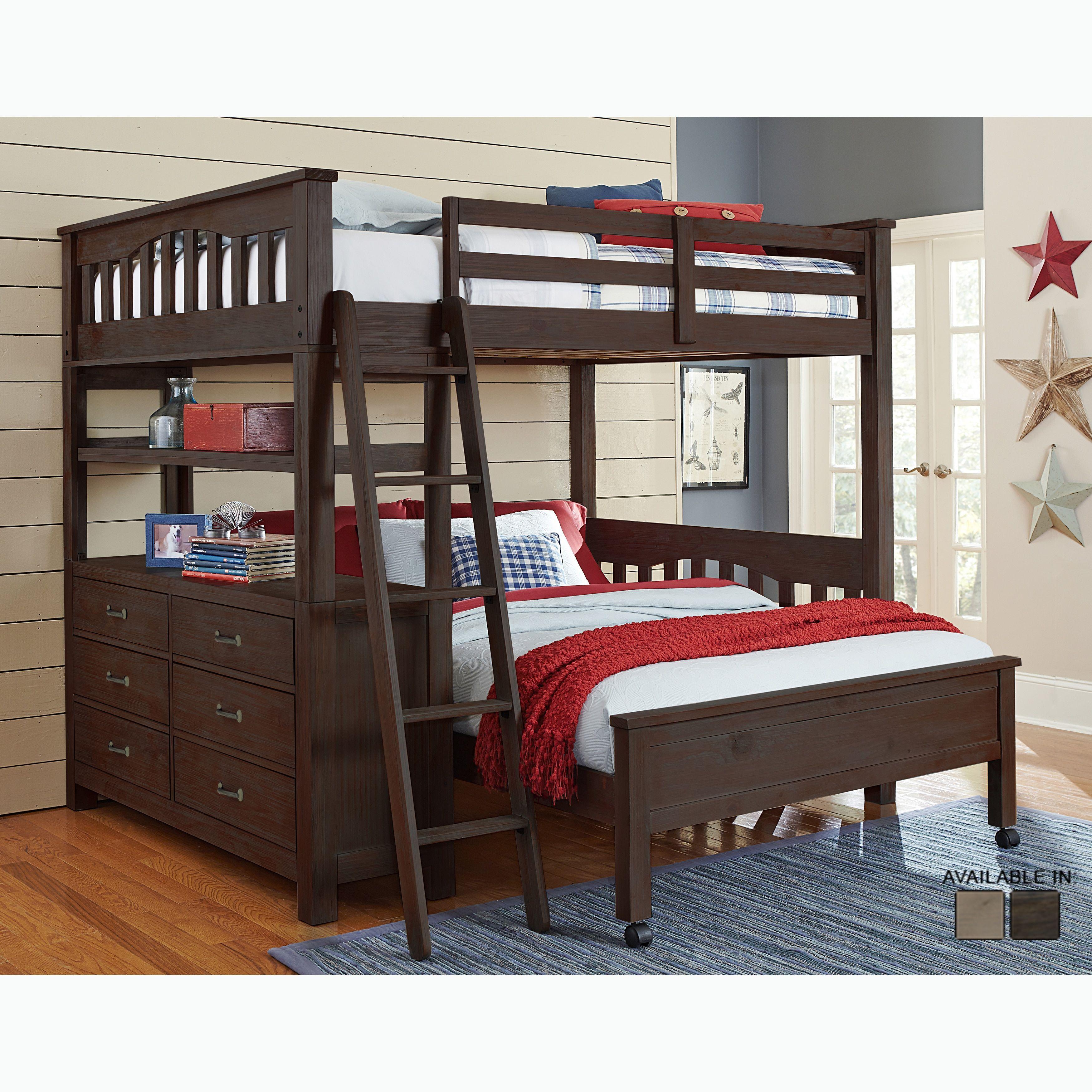 NE Kids Highlands Collection Espresso Wood Fullsize Loft