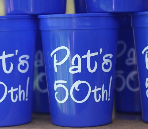 Personalized Colors 12 Oz Plastic Cups 50th Birthday Party Ideas For Men 50th Birthday Decorations Birthday Party Cups