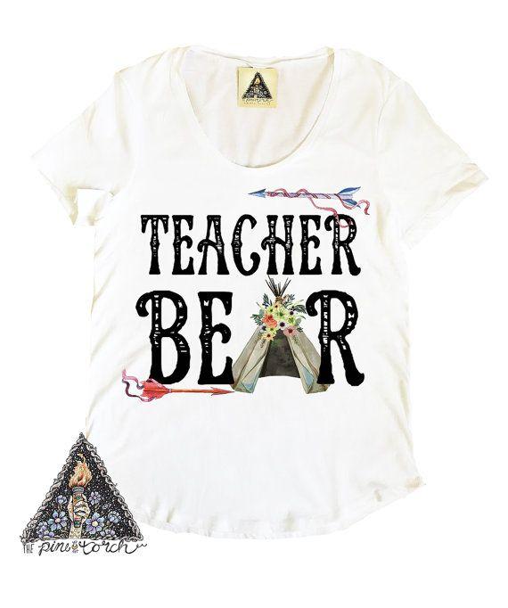 teacher bear shirt teacher shirt preschool by thepinetorch