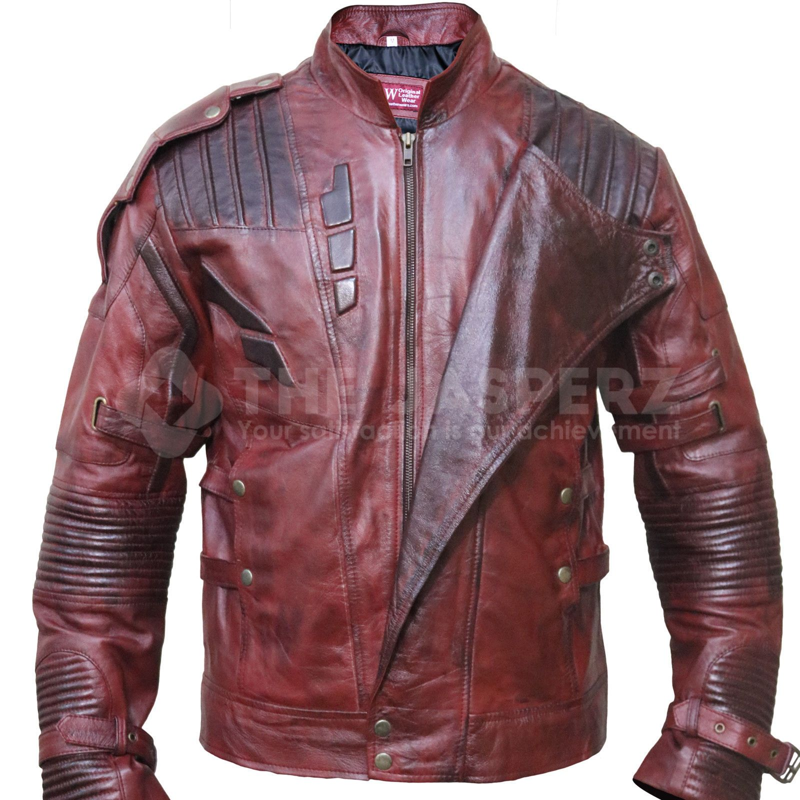 Star Lord Chris Pratt Maroon Faux Leather Jacket Guardians of the Galaxy 2 Movie