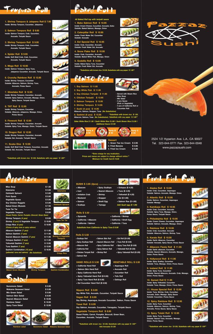 Japanese Restaurant To Go Menu Design And Printing Inprintla