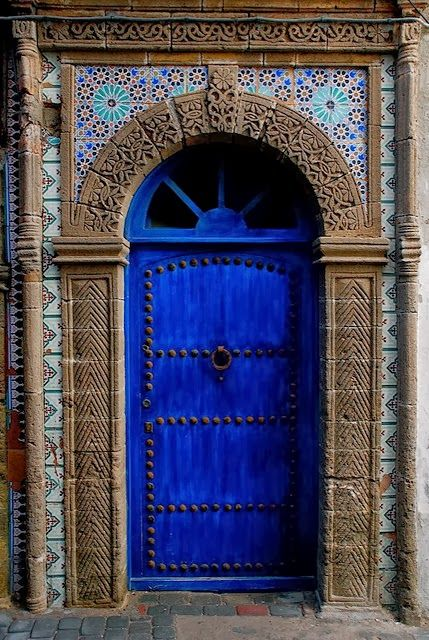Moorish Style Tiled Blue Door Cool Doors Unique Doors