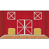 Our Barn Doors Props features a large red and white barn ...