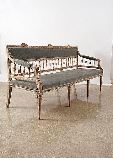 Antique Daybed French Antique Daybed French Daybed Antique Settee Settee Swedish Decor Painted Benches Swedish Furniture