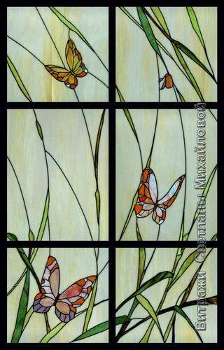 Витраж flora-023
