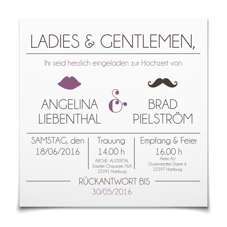 Hochzeitseinladung Großer Gatsby in Lavendel Postkarte
