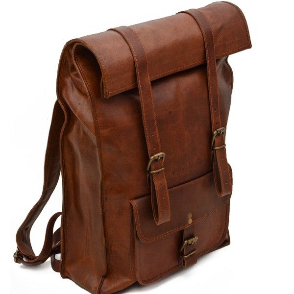Leather Rolltop Backpack Default, Leather Bags - Johnny Fly Co., Johnny Fly Co. - 5