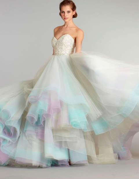 Taurus Ball Gown Skirt, oh my, would be cool with the colors of your bridal party/wedding in the skirt