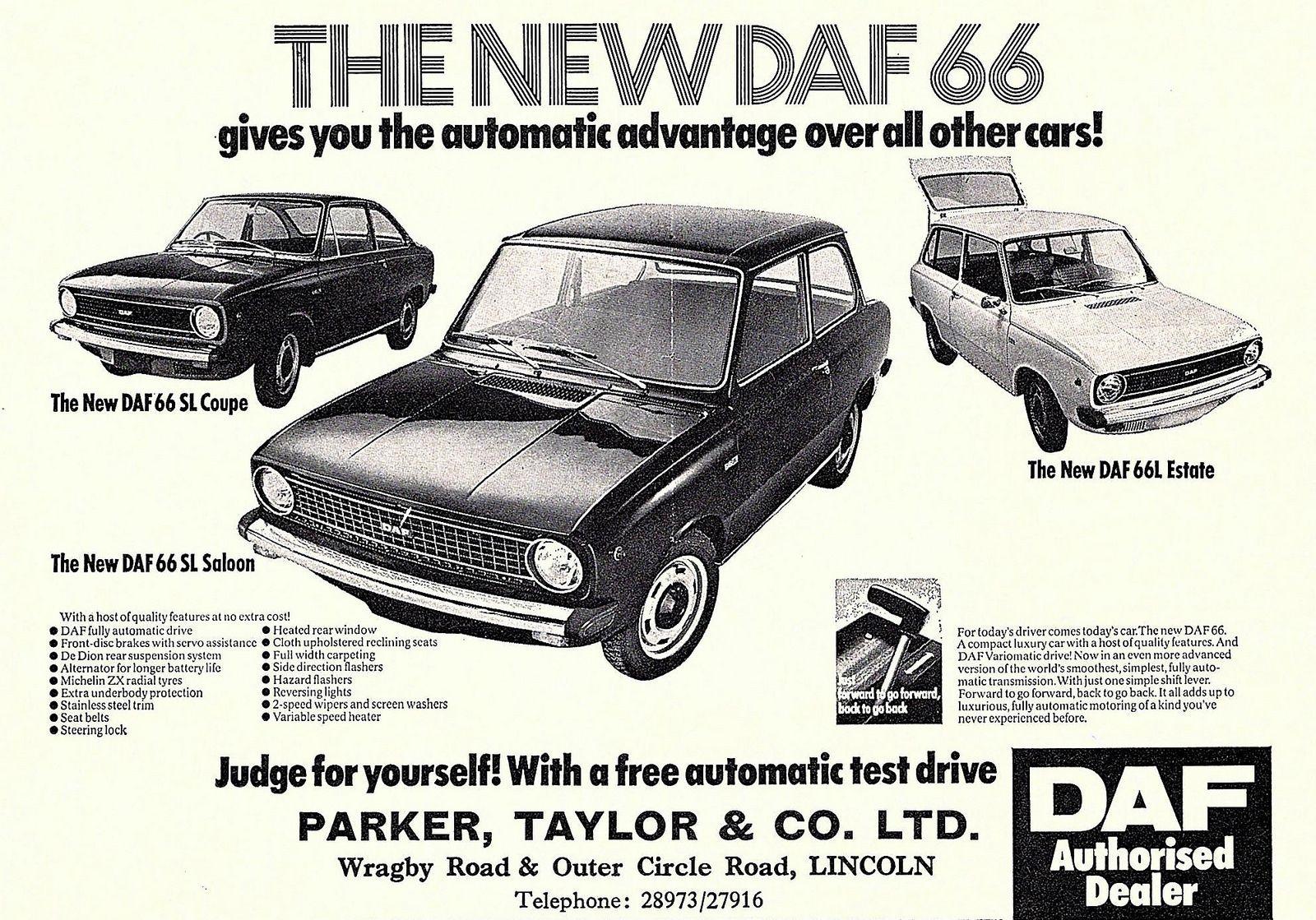 1973 advert parker taylor