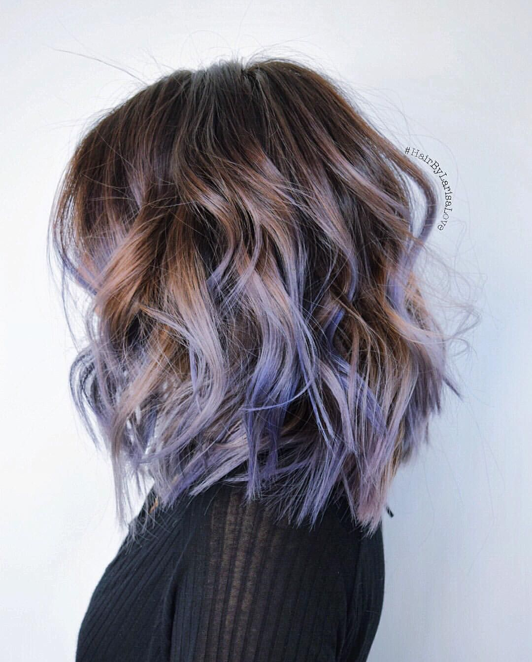 18 beautiful blue ombre colors and styles | curly lob, lob hair