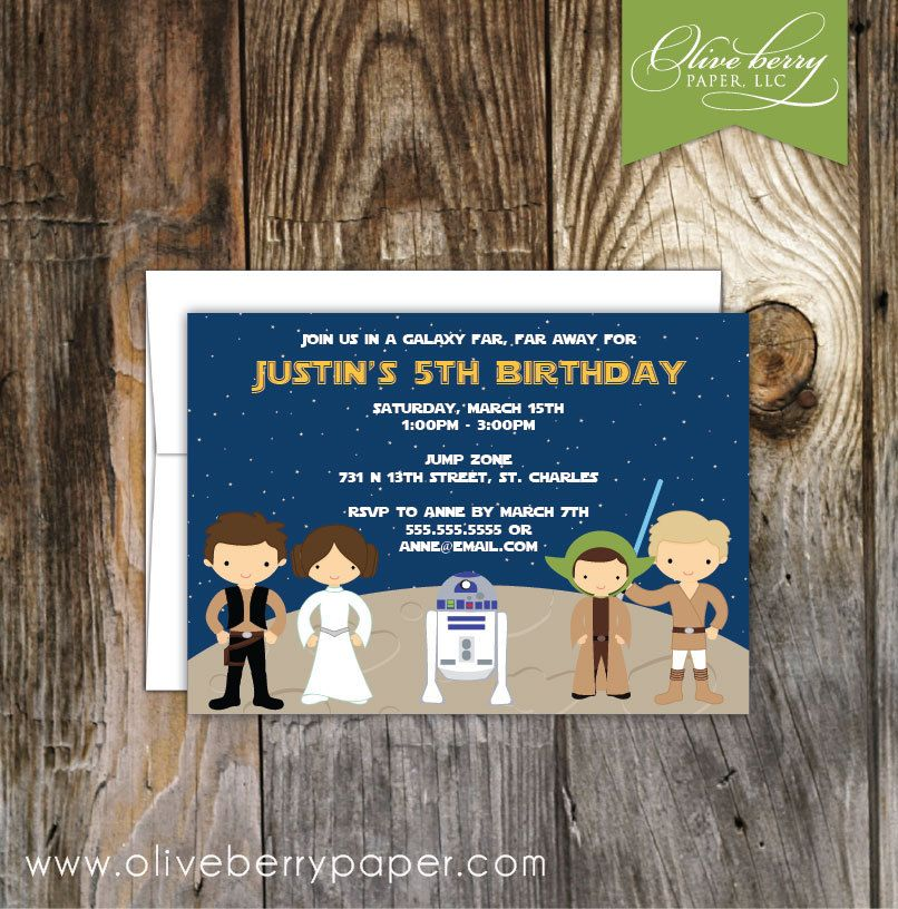 Star Wars Birthday Party Invitations By OliveBerryPaper On Etsy 175