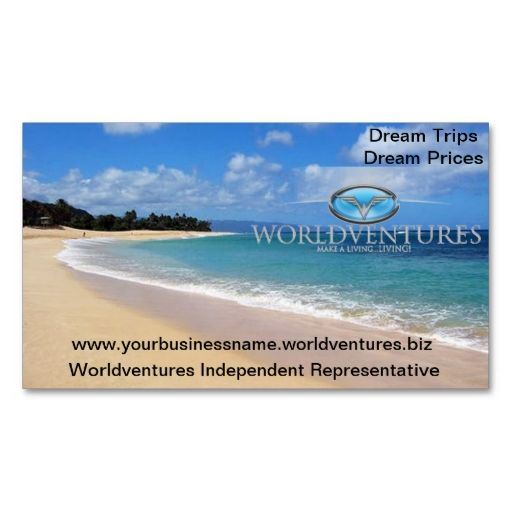 Worldventures card business card template Make your own business