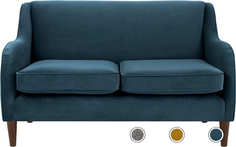 Made Plush Teal Velvet Sofa 2 Seater Sofa Sofa Teal Velvet Sofa