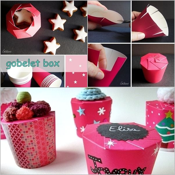 Vsledek obrzku pro diy gifts diy pinterest diy paper box im really in love with this idea for turning an every day paper cup into a favor box for gifts you may love these toodiy gift box from cardboarddiy gift negle Choice Image