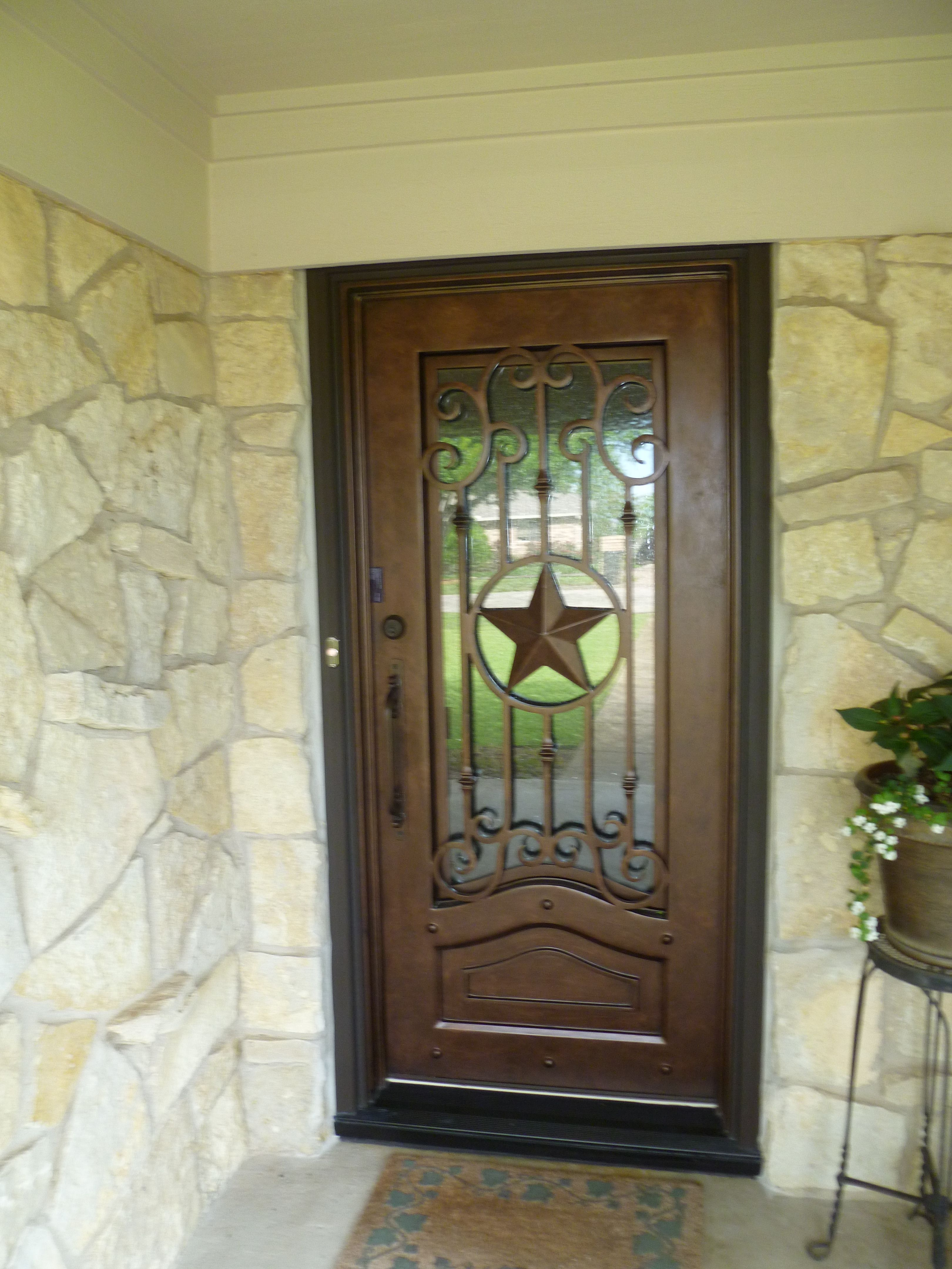 Texas Lone Star Iron Door Aaleadedgl