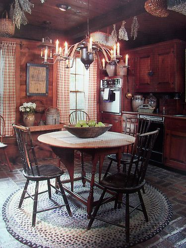 Small Kitchen Decorations Dining Room Furniture Cozy: Primitive ★american Country Home★ Early Decorating Book