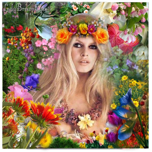 Hippie Queen Of The Flower Children Brigitte Bardot Bardot Bridget Bardot