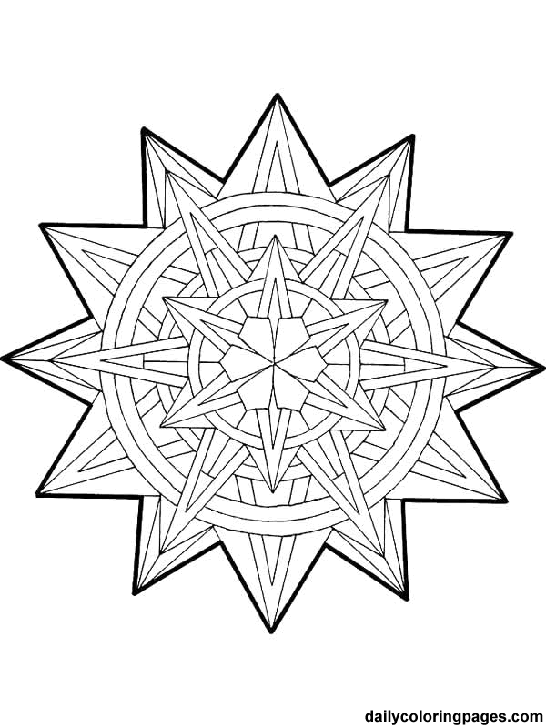 Free Printable Mandala Coloring Pages  mandala christmas