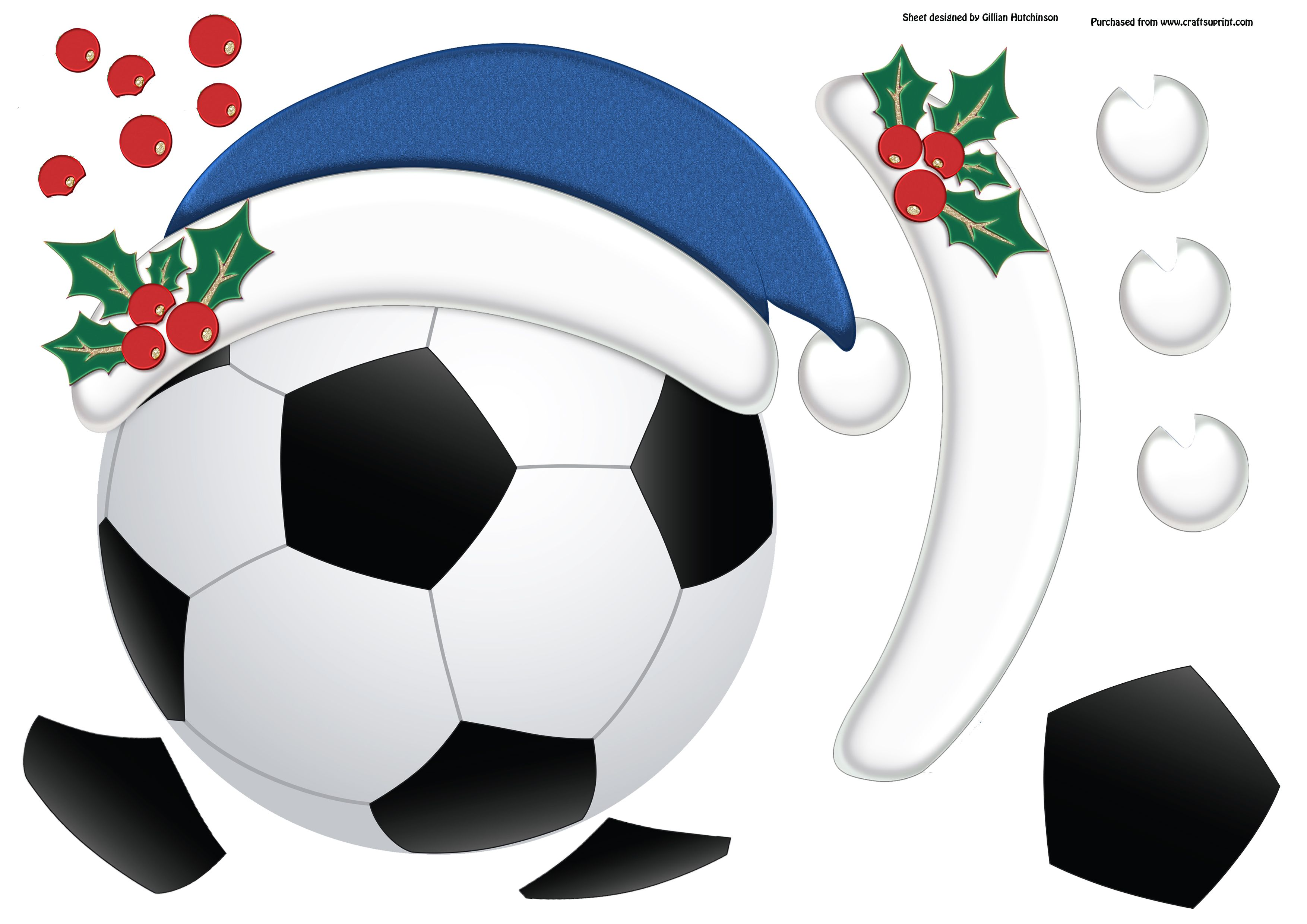 5 page 7x7 football themed topper decoupage blank insert text