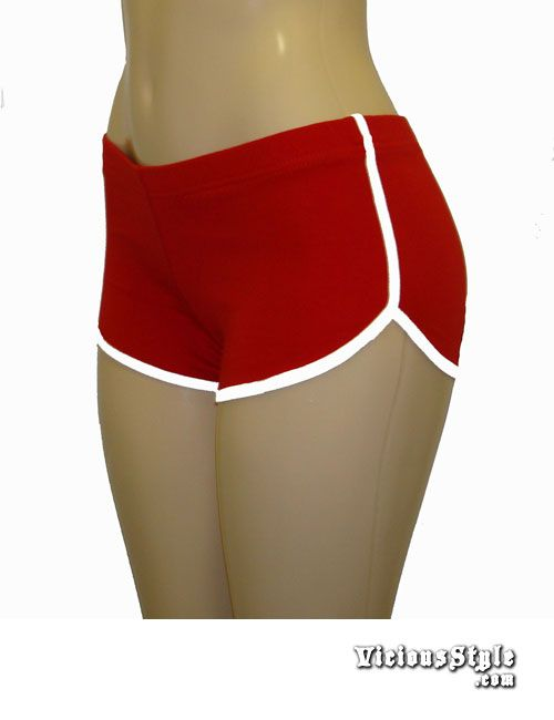 Red Vintage Retro Running Shorts - Womens, Teens & Junior Clothing ...