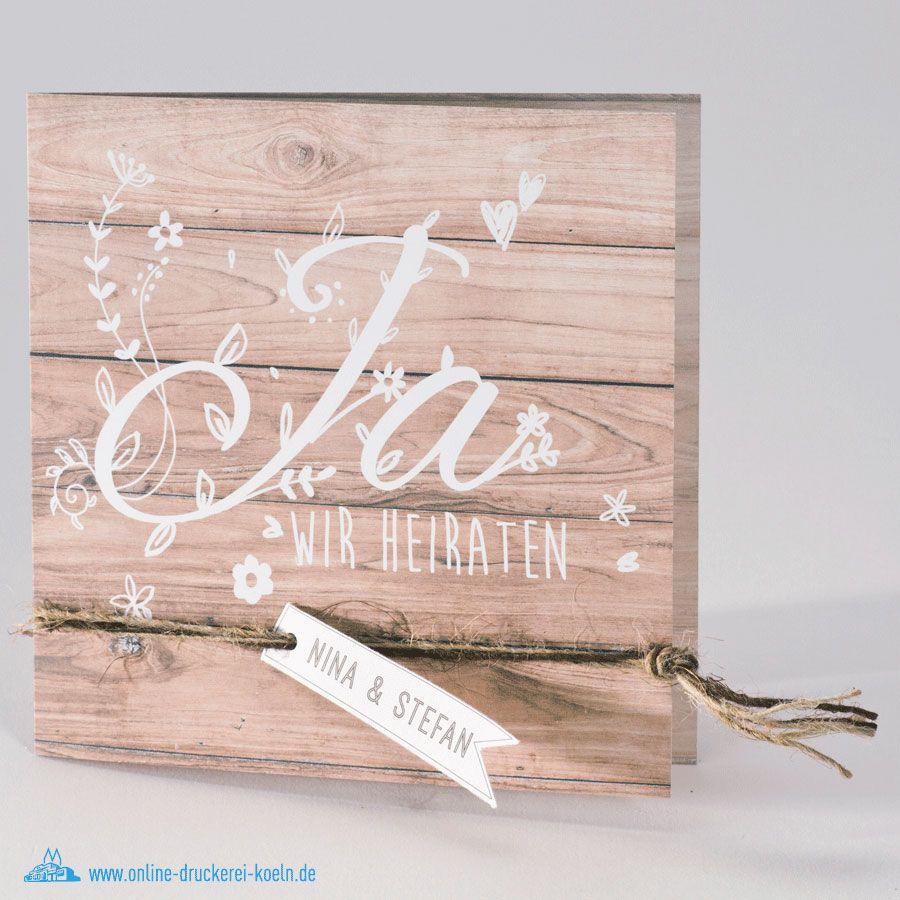 Holz Rustikal Einladung