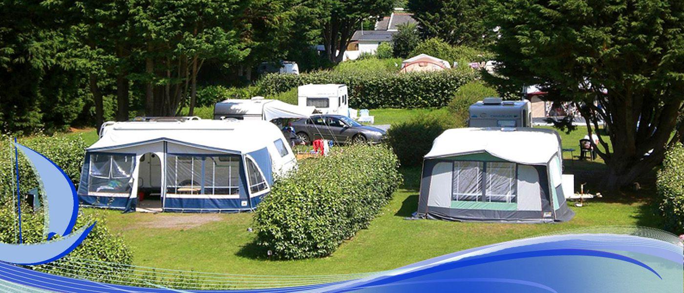 Ontvangst Van De Camping In Plouguerneau In Finistere In Bretagne