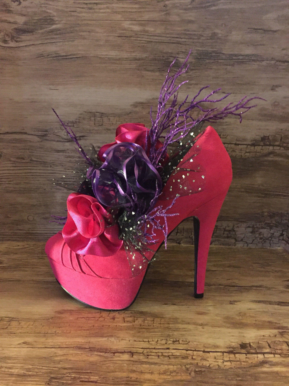 23242543a62e4 high heel shoe decoration, shoe party centerpiece, bridal shower ...