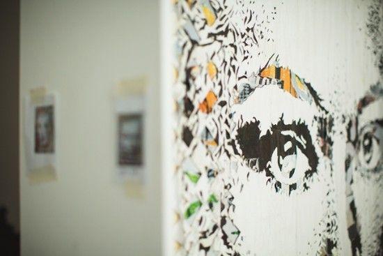 Fundação EDP - Multimedia - Dissecção/Dissection: montagens Vhils - nome artístico de Alexandre Farto - 1987. Linguagem visual única com base numa estética de vandalismo derivada do seu background na pintura grafitti. Exposições individuais e coletivas em todo o mundo